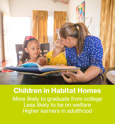 Children in Habitat Homes