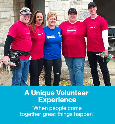 A Unique Volunteer Experience - When people come together great things happen.
