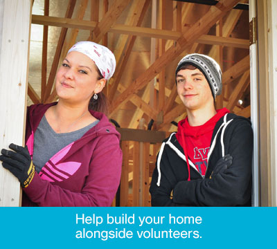 Buy a Home and Help Build Your Home Alongside Volunteers
